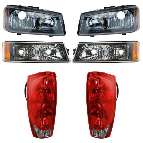 02-06 Chevy Avalanche w/o Lower Body Cladding Front & Rear Lighting Kit ( 6 Piece)