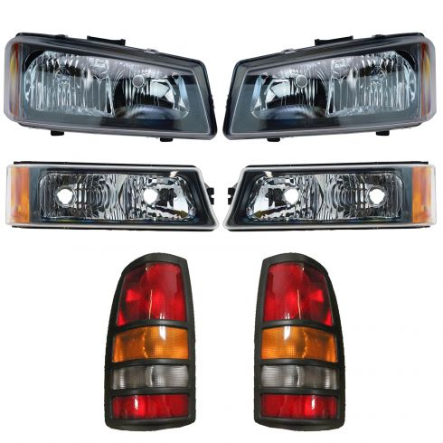 03 Chevy Silverado 3500 Front & Rear Lighting Kit (6 Piece)