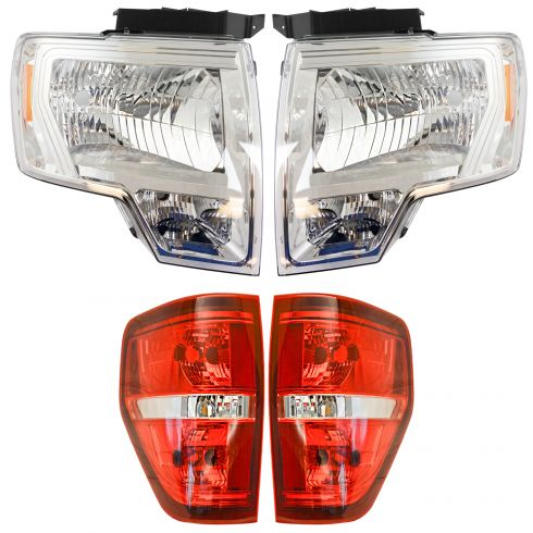 09-14 Ford F150 Front & Rear Lighting Kit (4 Piece)