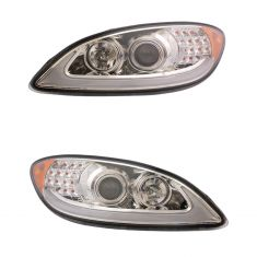 09-17 International Prostar Chrome Performance Headlight (w/ LED Signals) Pair