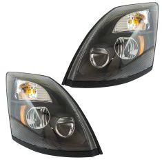 04-17 Volvo VNL VNM Black Performance LED Upgrade Headlight Pair