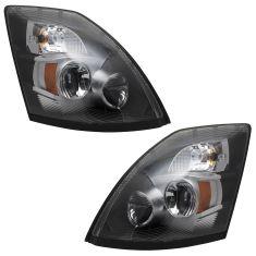04-17 Volvo VNL VNM Chrome Performance LED Upgrade Headlight Pair