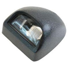 00-14 GM Full Size Pickup, SUV Multifit Text Blk Rear License Plate Light Lens & Hsg LR = RR (GM)