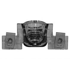 05-09 Hummer H2 (Spare Tire Mtd); 03-05 Sunfire 2dr; 99-04 Alero License Plate Light Lens Assy (GM)