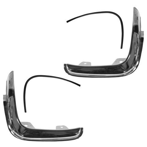 93-97 Ford Ranger XLT Chrome Headlight Trim PAIR