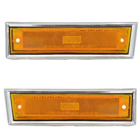 81-91 Blazer Jimmy; 81-87 Chevy,GMC C/K; 88-91 R/V, Suburban Side Marker Light (w/Chrome Bezel) PAIR