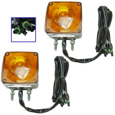 08-13 Kenworth T170, T270, T370; 07-13 T440 Front Turn Signal Assy PAIR (Dorman)