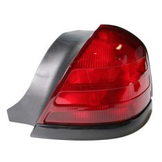 99-05 Ford Crown Victoria Red w/Blk Taillight RH