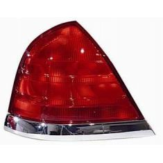 1999-10 Ford Crown Vic Red & Chrome 2 Bulb Taillight LH