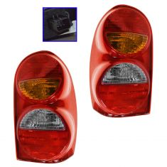 02-04 Jeep Liberty Taillight Pair