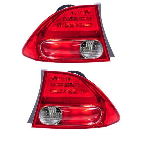 06-07 Honda Civic Tail Light Pair for Sedan Std or Hybrid