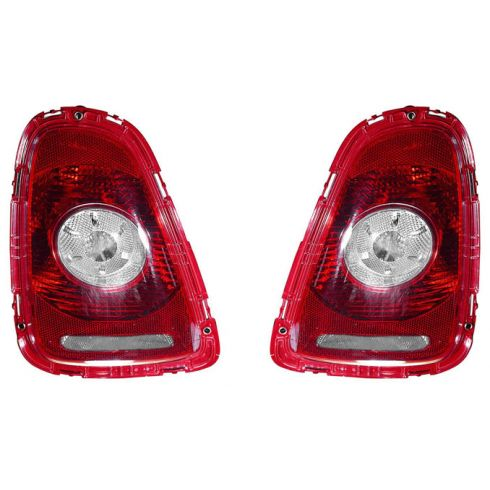 2007-10 Cooper HTP; 09-10 Cooper Conv Taillight (w/Clear) PAIR