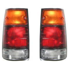 88-97 Isuzu Amigo Rodeo Pickup Honda Passport Tail Light With Black Bezel PAIR