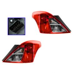 12-13 Nissan Versa Sedan Taillight PAIR