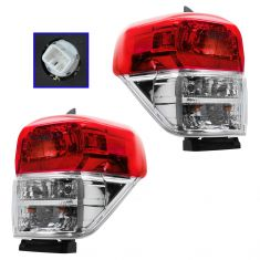 10-13 Toyota 4Runner Taillight w/Chrome Bezel PAIR