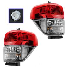10-13 Toyota 4Runner Taillight w/Black Bezel PAIR