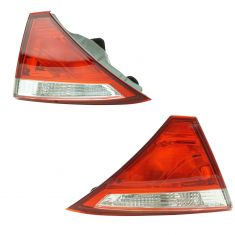 15 Toyota Camry; 16 Camry (w/Clear Reverse Lens) Inner Trunk Panel Mounted Taillight Pair