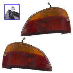 98 00 Toyota Sienna Outer 1 4 Panel Mtd Taillight Embly Pair