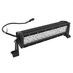 14 Inch - (72 Watt) Auxillary Flood & Spot Combination 24 LED Light Bar w/Riveted Trim