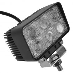 4 Inch - Rectangular (18 Watt) Auxillary Flood Beam 6 LED Offroad Work Light