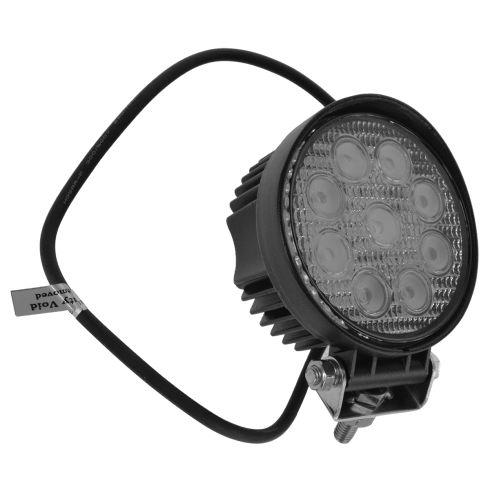 4 Inch - Round (27 Watt) Auxillary Flood Beam 9 LED Offroad Work Light