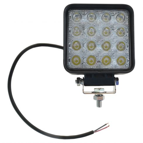 4 Inch - Square (48 Watt) Auxillary Flood Beam 16 LED Offroad Work Light