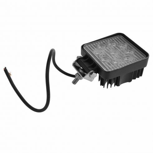 4 Inch - Square (27 Watt) Auxillary Spot Beam 9 LED Offroad Work Light