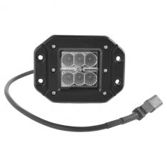 4 Inch - Square (18 Watt) Spot Beam 6 LED Flush Mount Offroad Work Light