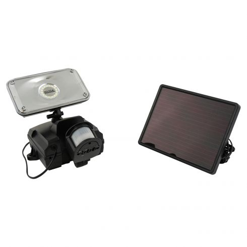 Solar-Powered Motion-Activated SMT LED Ultra Bright Security Floodlight w/BLACK Plastic Body
