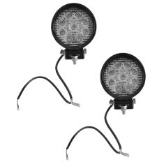 4 Inch - Round (27 Watt) Spot Beam 9 LED Offroad Work Light Pair
