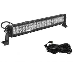 24 Inch - (120 Watt) Auxillary Combo 40 LED Light Bar w/Riveted Trim & Harness