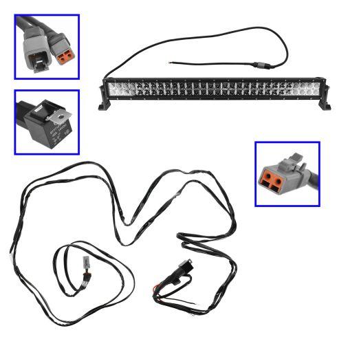 32 Inch - (180 Watt) Auxillary Combo 60 LED Light Bar w/Riveted Trim & Harness