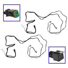 Single Switch Single Plug Universal Light Wiring Harness (<150W) Pair