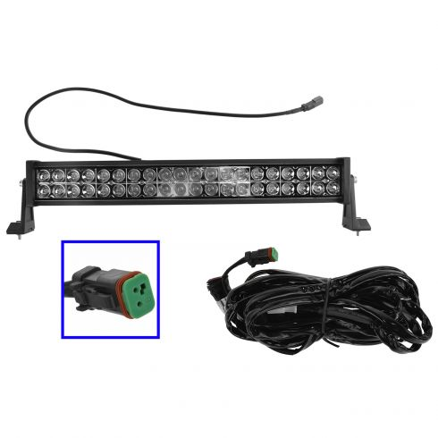 24 Inch - (120 Watt) Auxillary Flood & Spot Combination 40 LED Smooth Trim Light Bar w/ Harness