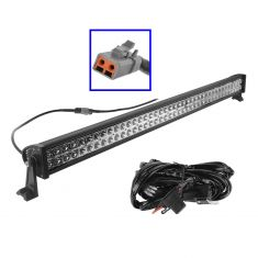 42 Inch - (240 Watt) Auxillary Flood & Spot Combination 80 LED Smooth Trim Light Bar w/ Harness
