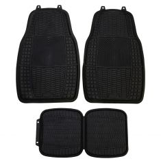 ARMOR ALL: All Season Performance Heavy Duty BLACK Rubber Interior Floor Mat (4 Piece SET)