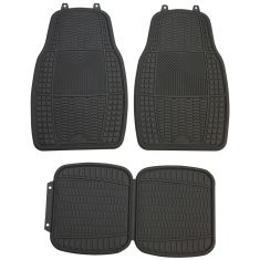 ARMOR ALL: All Season Performance Heavy Duty GRAY Rubber Interior Floor Mat ( 4 Piece SET)