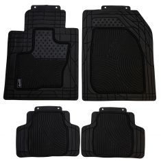 Custom Accessories Smart Fit: Trim to Fit All Season HD BLK Rubber SUV/CROSSOVER Flor Mat (4 PC SET)