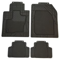 Custom Accessories Smart Fit: Trim to Fit All Season HD GRAY Rubber SUV/CROSSOVR Flor Mat (4 PC SET)