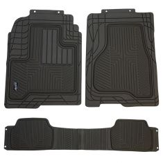 Custom Accessories Smart Fit: Trim to Fit All Season HD GRAY Rubber TRUCK Floor Mat (3 PIECE SET)