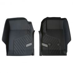 15-16 Chevy Colorado ~Bowtie~ Logoed Jet Black Tub Style Front Rubber Floor Liner PAIR (GM)