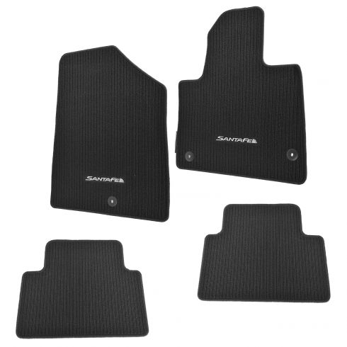 2013 18 Hyundai Santa Fe Sport Black Carpet Floor Mat 4 Piece Set