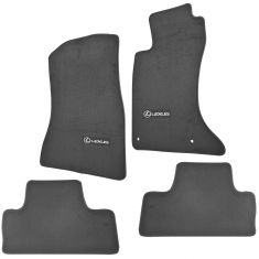 06-13 Lexus IS250, IS350 AWD Embroidered ~Lexus~ Black Carpeted Floor Mat Kit (Set of 4) (Lexus)