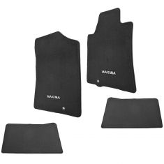 09-14 Maxima Embroidered ~MAXIMA~ Black Carpeted Front & Rear Floor Mat Kit (Set of 4) (Nissan)
