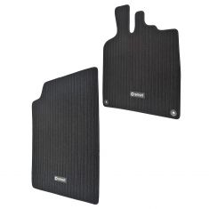 08-13 Smart Fortwo LHD ~SMART~ Logoed Black Carpeted Floor Mat PAIR (Smart)