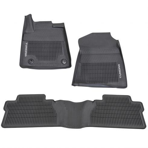 OEM Toyota Tundra All-Weather Floor Mat Set of 4 Select 2012-2013 Black