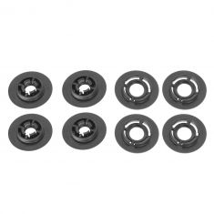 VW Jetta, Passat, Golf, Beetle, CC, GTI Multifit Replacement Round Floor Mat Clips (Set Of 4) (VW)