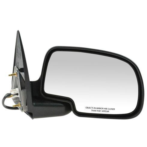 99-02 Sierra Power Mirror Blk w/Gloss Blk Cap RH