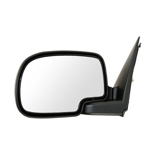 99-02 Chevy Silverado Blk & Chrome Power Mirror LH