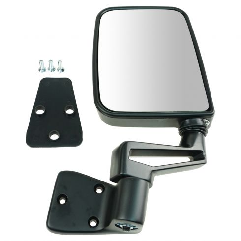 Mirror Glass For 87-02 Jeep Wrangler Passenger Side Replacement